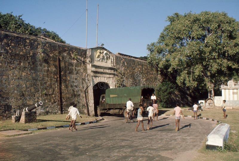 1977 Sri Lanka La puerta de la entrada al  de Frederick†del fuerte del  del †foto de archivo