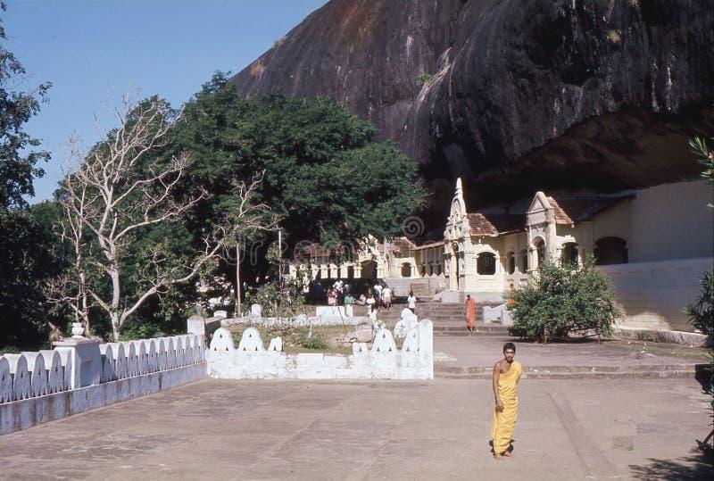 1977 Sri Lanka Las entradas a las cuevas de Dambulla fotos de archivo libres de regalías
