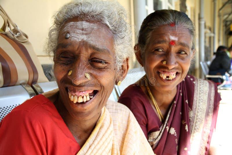 Sri Lanka mogen kvinna arkivbild