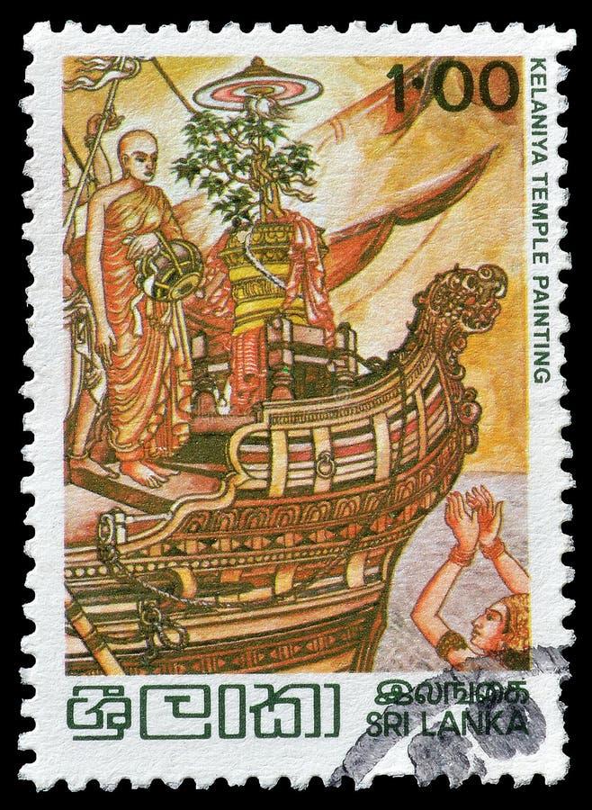 Sri Lanka na znaczkach pocztowych obrazy royalty free