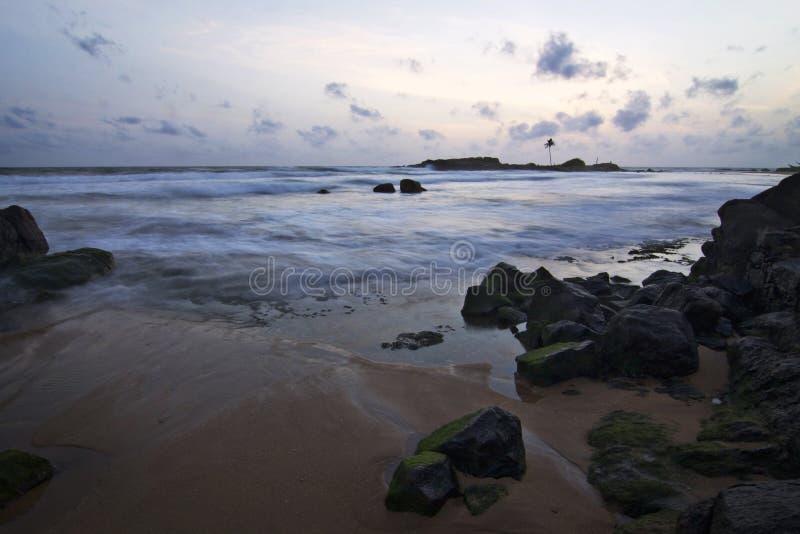 Sri Lanka: Por do sol fotografia de stock royalty free