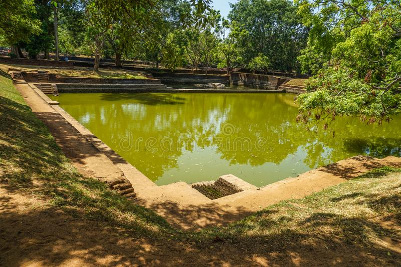 Sri Lanka Sigiriya way of the lock to the. Shooting location :  Sri Lanka royalty free stock photography