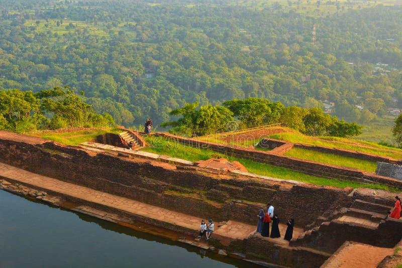 Sri Lanka Sigirya berg arkivbilder