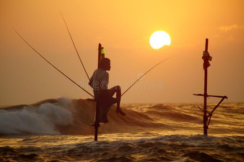 Sri Lanka, south coast - January 06; 2011: traditional sri lanka royalty free stock photo