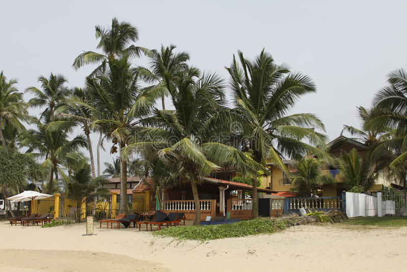 Sri Lanka-Strandrestaurant lizenzfreies stockfoto
