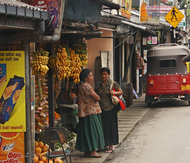 Sri Lanka streetlife arkivbilder
