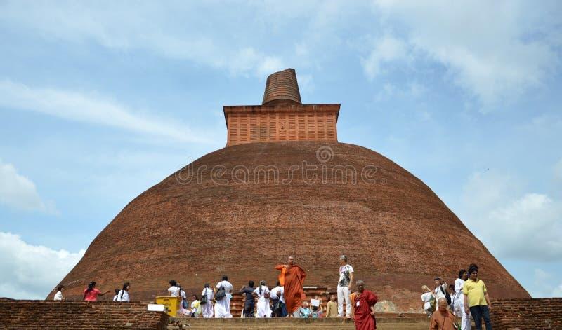 Sri Lanka stupa royaltyfria bilder