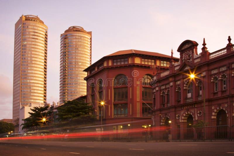 Sri Lanka: Tráfego em Colombo imagem de stock royalty free
