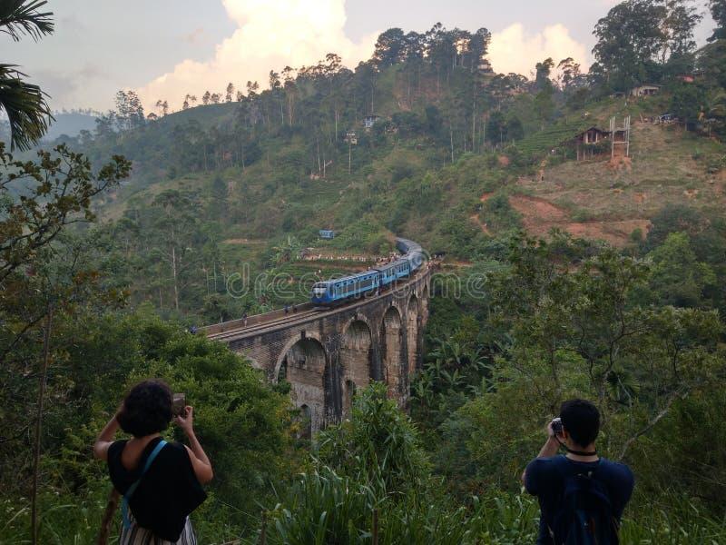 Sri Lanka train ride stock photo