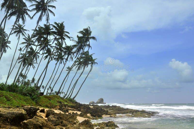 Sri Lanka,Unawatuna beach. Beautiful Unawatuna beach in Sri Lanka stock image