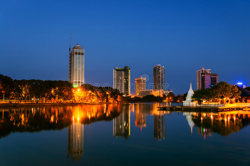 Sri Lanka. View of Beira Lake in Colombo stock image