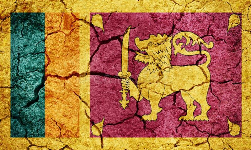 Sri Lanka-vlag royalty-vrije stock afbeelding