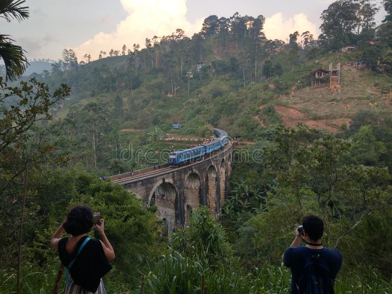 Sri Lanka-Zugfahrt stockfoto