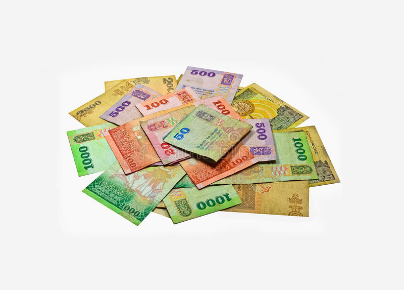 Sri Lankan Currency Rupee Notes royalty free stock photo