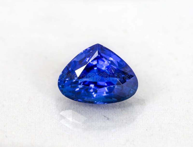 Sri Lankan gem - Natural Blue Sapphires. This gem stones is Sri Lankan Natural Blue Sapphires - Heart Shape stock photos