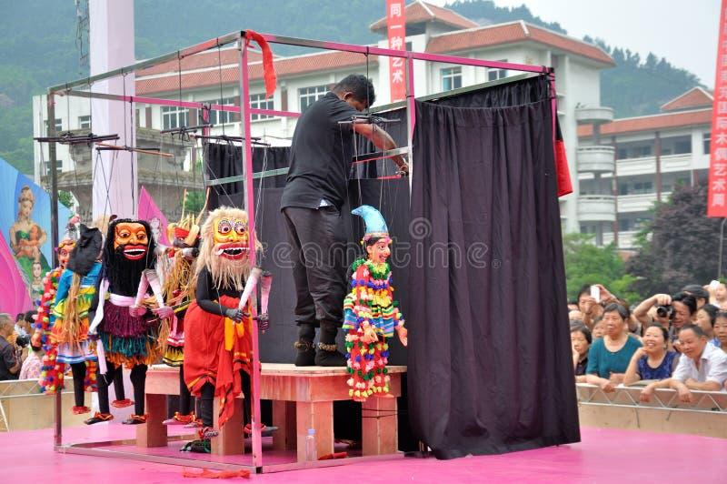 Sri Lankan Puppet Show stock image