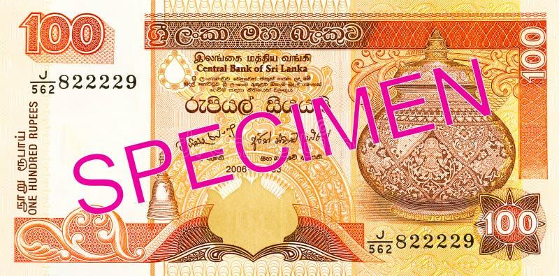 10 sri lankan rupee bank note obverse. Specimen royalty free stock photo