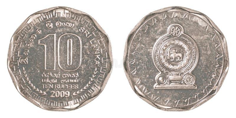 10 Sri Lankan rupee coin stock photos