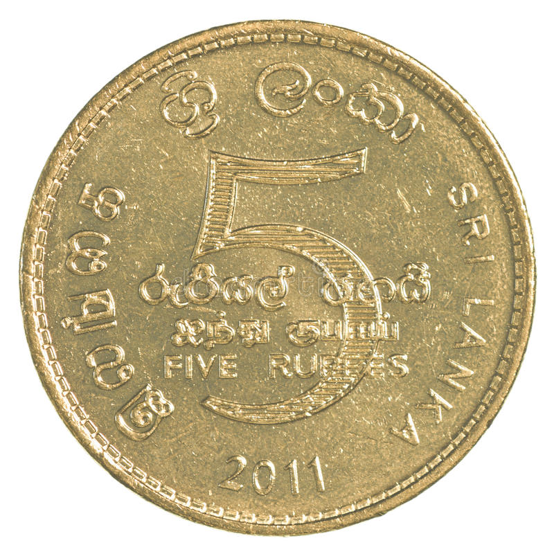 5 Sri Lankan rupee coin stock images