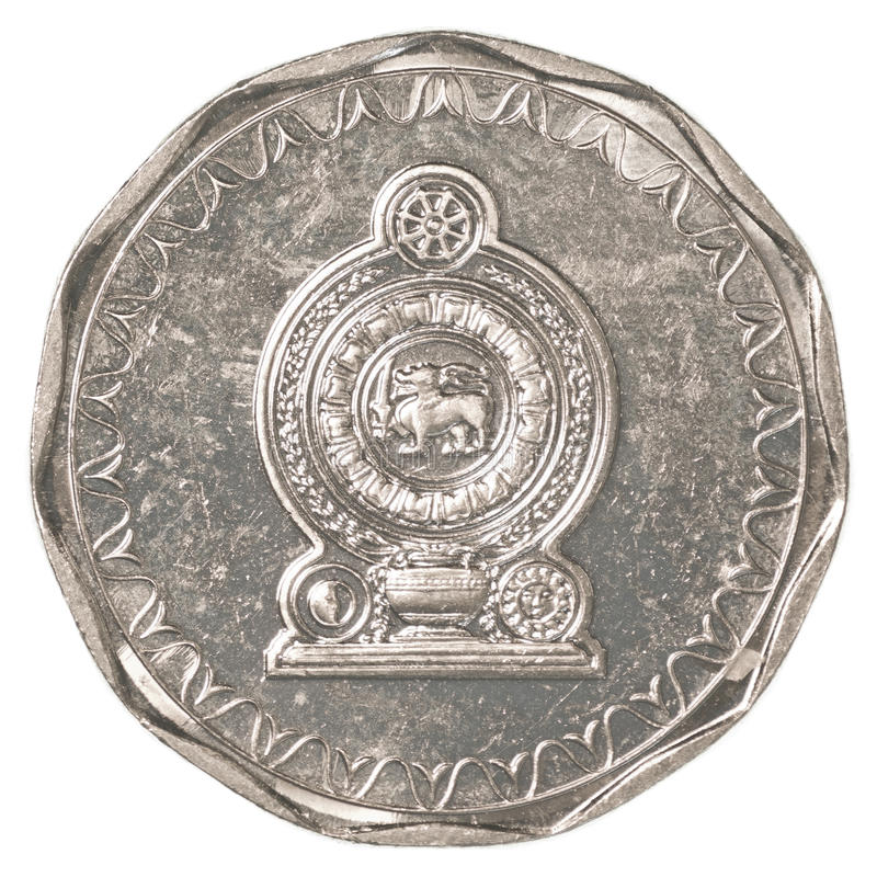10 Sri Lankan rupee coin stock images
