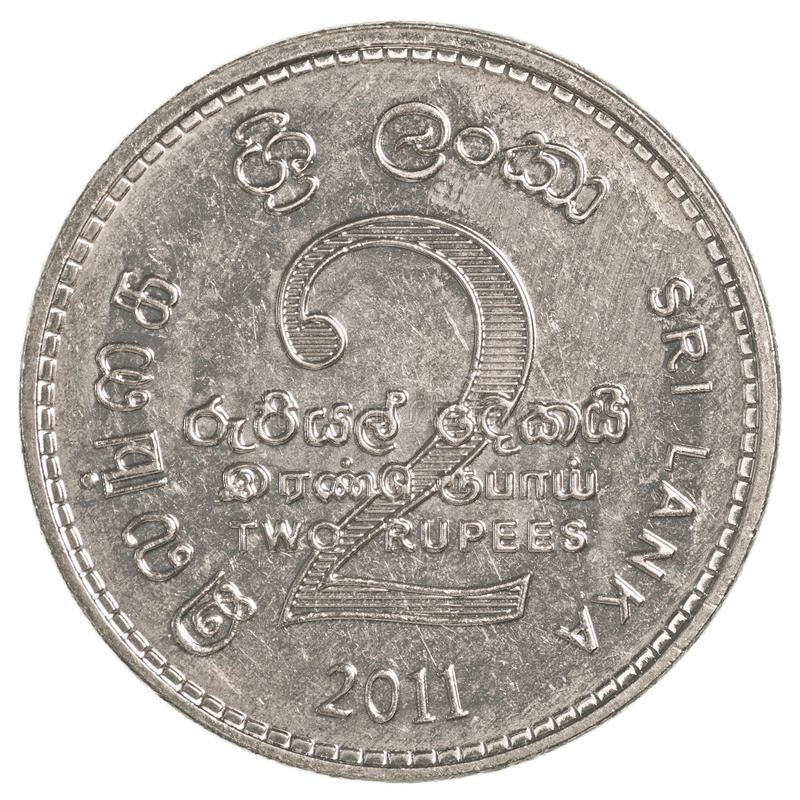 2 Sri Lankan rupee coin royalty free stock images