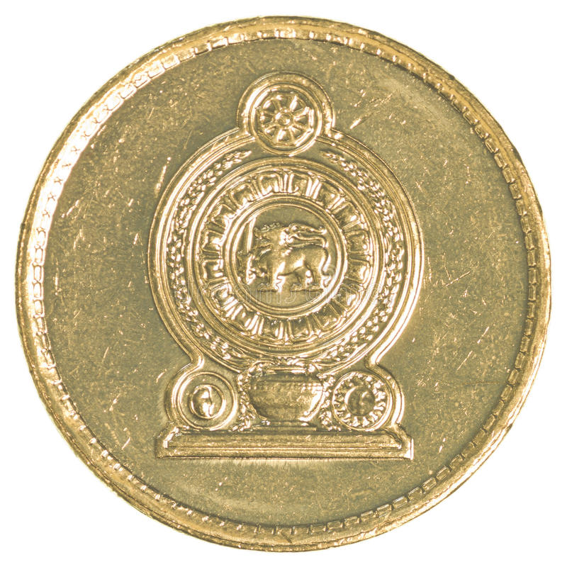 5 Sri Lankan rupee coin stock photos