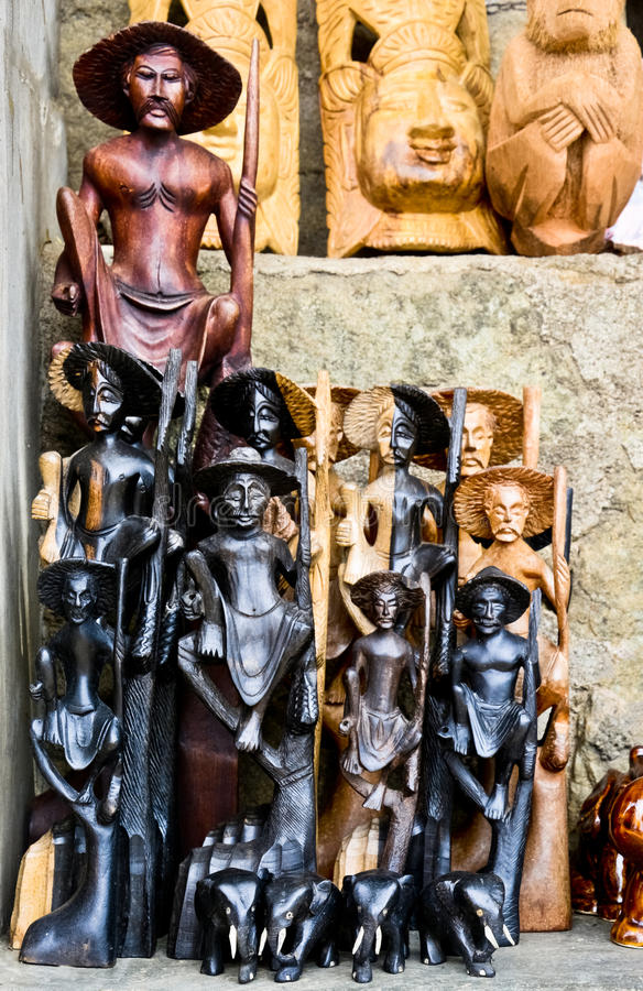 Sri Lankan traditional handcrafted goods shop. Sri Lanka, officially the Democratic Socialist Republic of Sri Lanka, is an island country in the northern Indian stock photo