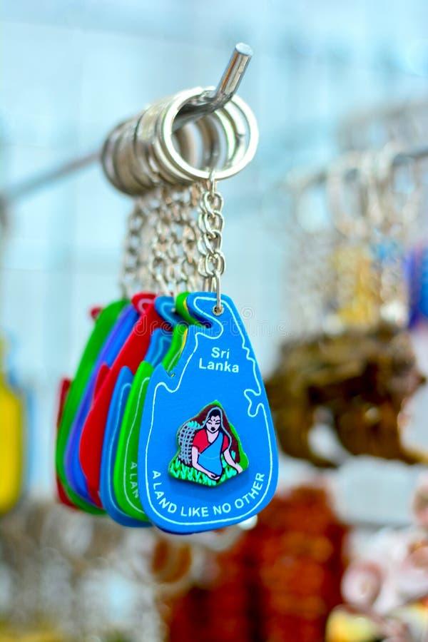 Sri Lankan traditional handicraft goods. Gifts and souvenirs for sale in a shop at Pinnawala elephant orphanage in Rambukkana, Sri Lanka stock image