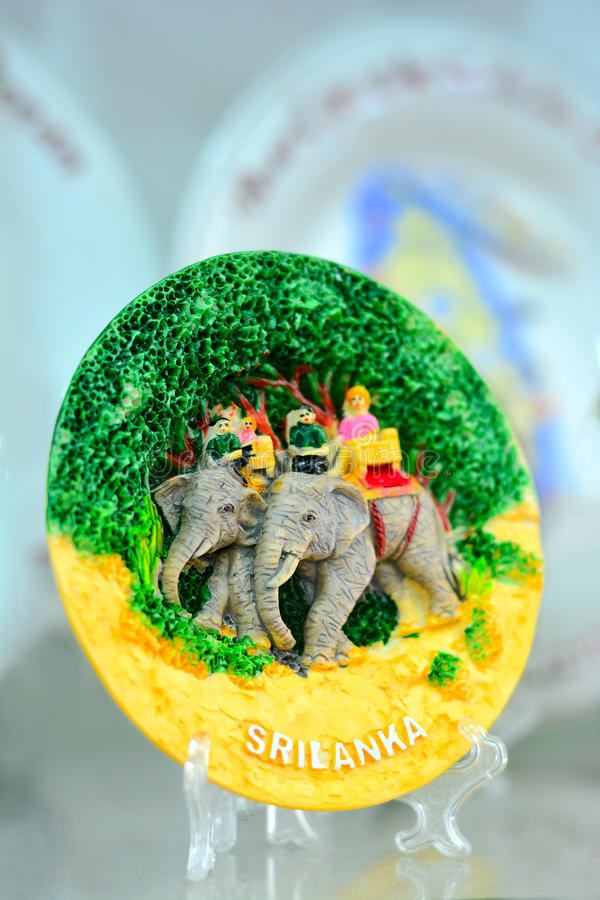 Sri Lankan traditional handicraft goods. Gifts and souvenirs for sale in a shop at Pinnawala elephant orphanage in Rambukkana, Sri Lanka royalty free stock photography