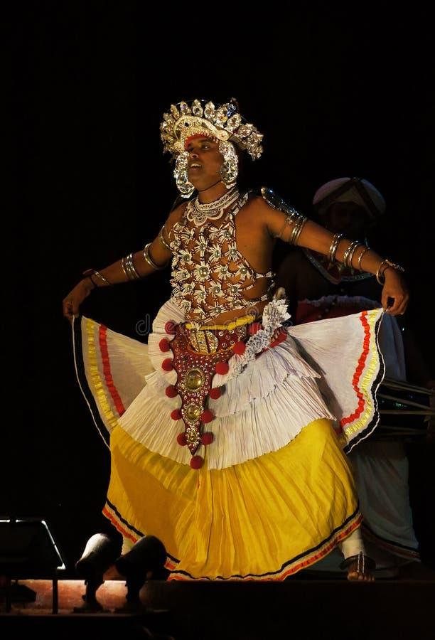 Sri Lankas tradycyjny taniec fotografia royalty free