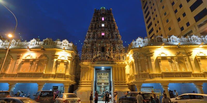 Sri Mahamariamman寺庙,吉隆坡,马来西亚 库存图片