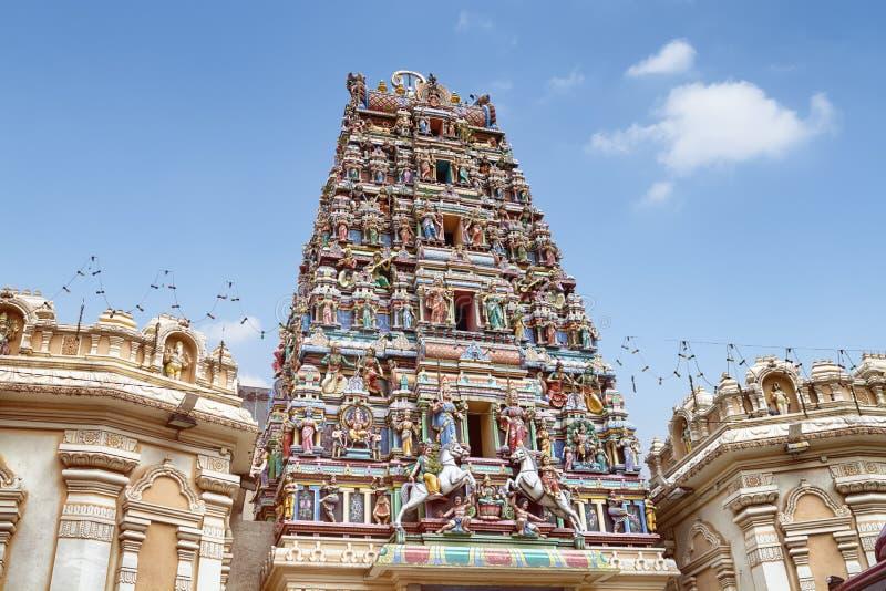 Sri Mahamariamman寺庙,吉隆坡 免版税库存图片