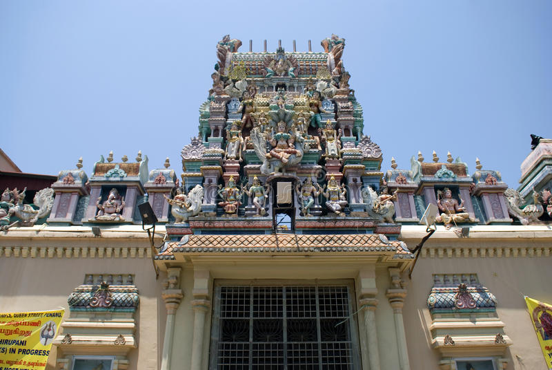 Sri Mahamariamman hindi temple. In Georgetown, Penang, Malaysia stock photography