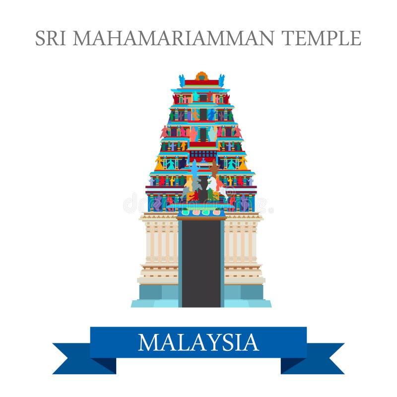 Sri Mahamariamman Hinduskiej świątyni Malezja przyciągania zwiedzać ilustracji