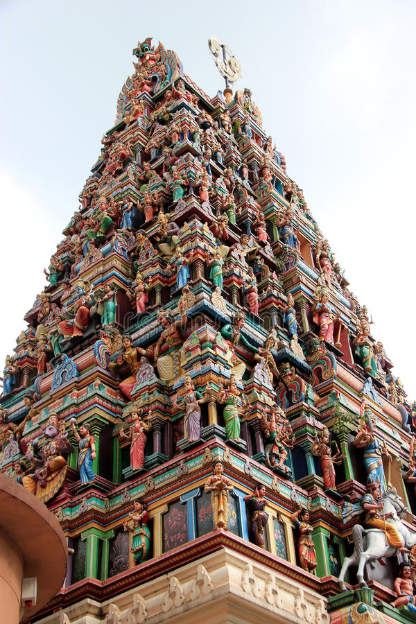 Sri Mahamariamman Temple, the oldest and richest H stock photos