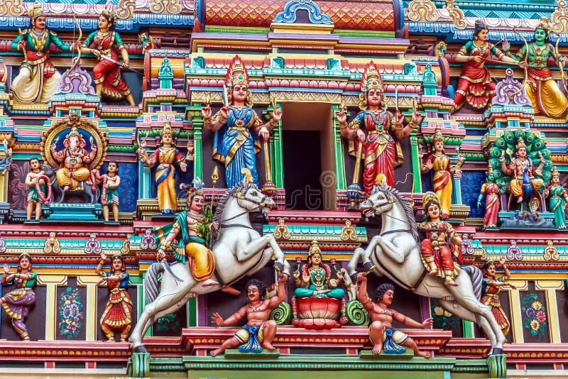 Sri Mahamariamman templo-Kuala Lumpur, Malásia fotografia de stock royalty free