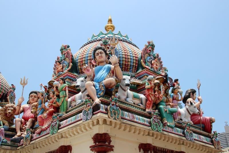 Sri Mariamman寺庙-新加坡 库存照片