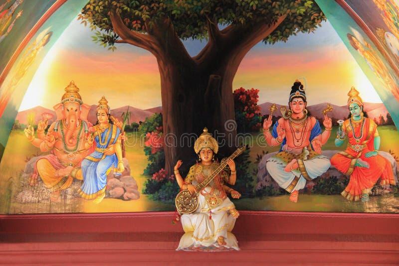 Sri Mariamman świątynia, Singapur stara Hinduska świątynia, b obraz stock