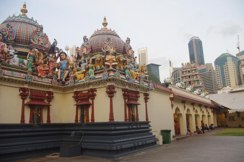 Sri Mariamman świątynia w Singapur Chinatown obraz stock