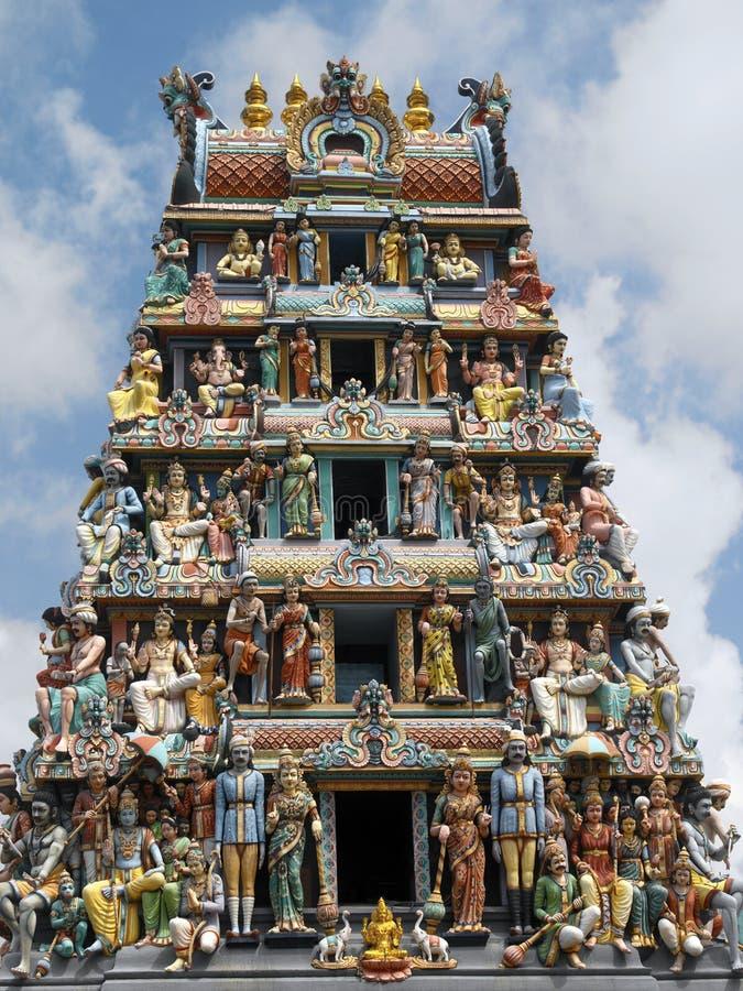Sri Mariamman hinduistischer Tempel - Singapur stockbilder