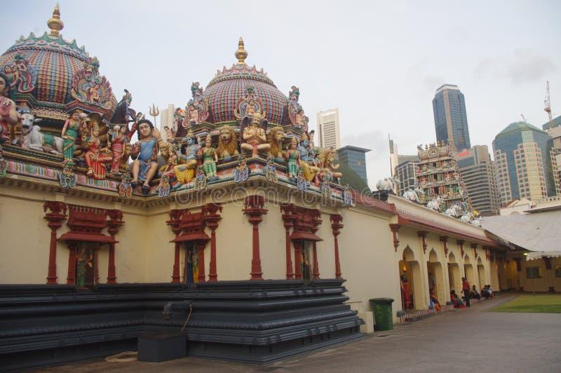 Sri Mariamman tempel i den Singapore kineskvarteret fotografering för bildbyråer