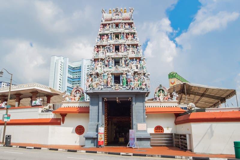 Sri Mariamman tempel i kineskvarter av Singapore gr?nsm?rke och popul?rt f?r turist- dragningar South East Asia loppbegrepp royaltyfria bilder