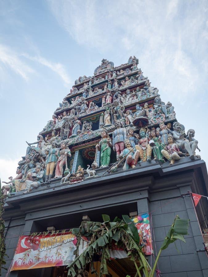Sri Mariamman tempel i kineskvarteromr?de av Singapore royaltyfri foto
