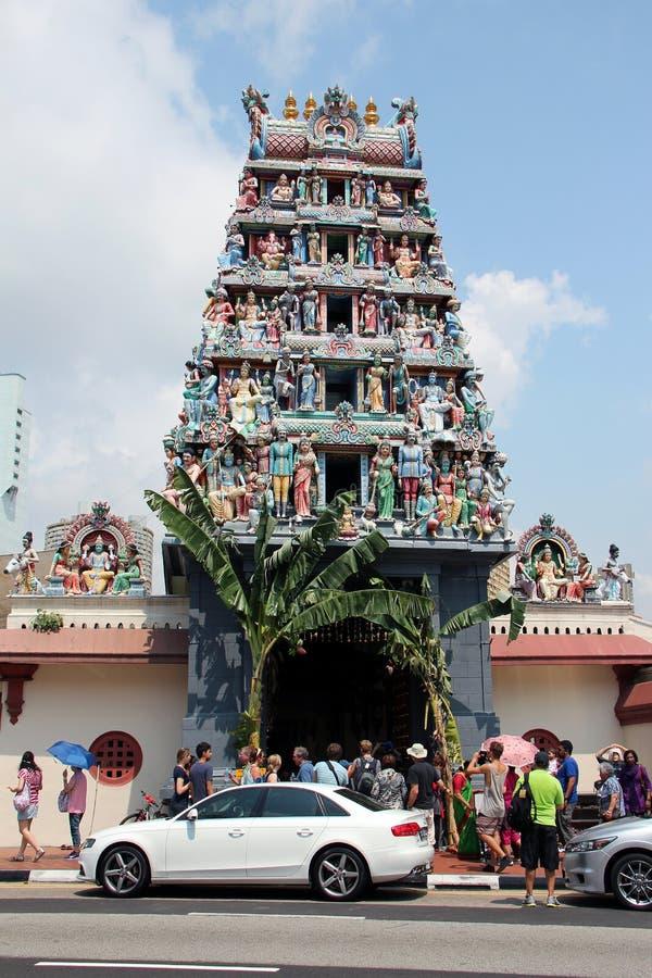 Sri Mariamman tempel - Singapore arkivfoto