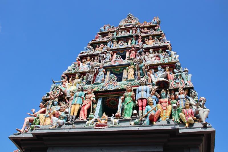 Sri Mariamman tempel - Singapore arkivfoton