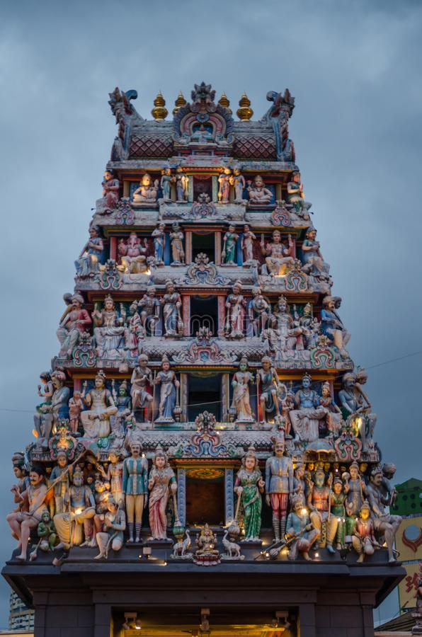 Sri Mariamman Temple at Singapore`s Chinatown. stock photo