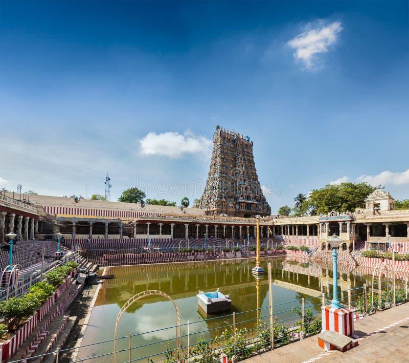 Sri Minakshi Temple. Water tank, Madurai, Tamil Nadu, India stock photo