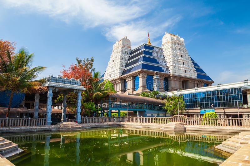 Sri Radha Krishna Iskcon Temple. Sri Radha Krishna Temple is located at Bangalore in India, one of the largest ISKCON temples in the world stock photos
