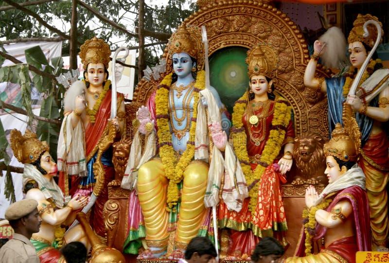 Sri rama - hinduisk gud royaltyfria foton
