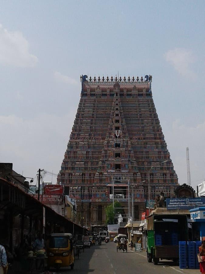 Sri rengam kovil gopuram royalty-vrije stock foto's